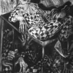'The Arrogance of The Fool' Compressed charcoal on gesso plywood. 6ft x 4ft.