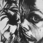 'Fool Reflections' Compressed charcoal.